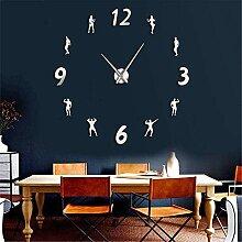hysxm Große Wanduhr DIY Frameless Wanduhr Uhr