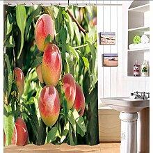 hysxm Rosa Kirschblüten Duschvorhang Digitaldruck