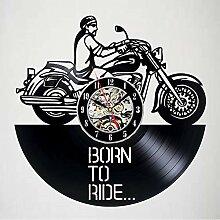 hysxm Vinyl Record Wanduhr Für Biker -