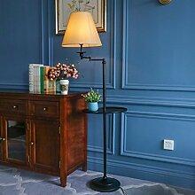 Hyun times Stehlampe Schmiedeeisen Stoff amerikanische moderne minimalistische Couchtisch Sofa Lampe Wohnzimmer Tischlampe (Farbe : B)