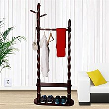 Hyun Times Zwei - geschossiger europäischer Stil Kleiderständer Multifunktionale Indoor Kleiderbügel