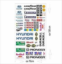 hyundai Logo Autoaufkleber Sponsoren Marken Aufkleber Decals Tuning Sticker Se