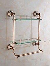 HYW Badezimmer Glasregal Badezimmer Kupfer