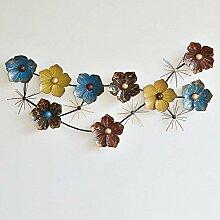 HYW Dekoration-Amerikanische Eisen Blume Wand