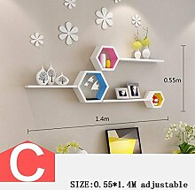 HYW Dekoration-Wand Kreative Gitterregal TV