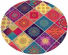 HYXI-Teppiche Nordic Round Carpet Home Wohnzimmer