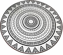HYXI-Teppiche Nordic Round Carpet Rutschfeste