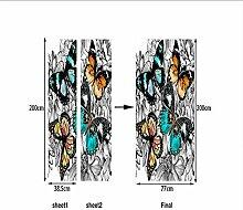 HYXLN 3D Muster Schmetterling Tür Aufkleber Für