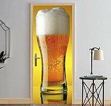 HYXLN Diy 3d bier tür aufkleber für kinder