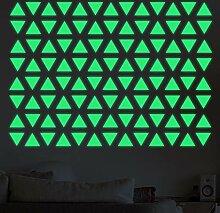 HYXLN Diy dreieck leuchtende aufkleber