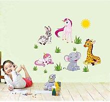 HYXLN Kann Wand-Stick-kleine Karikatur-Tiere wie