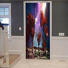 HYXLN Riff Und Sterne Tür Aufkleber
