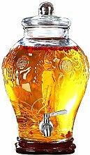 HYXQYJP Glas-Getränkespender mit Zapfen,