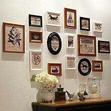 HYYDP Holz Mehrere Bilderrahmen Collage Wand Sets