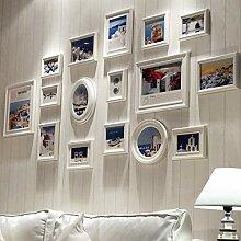 HYYDP Holz Mehrere Weiße Bilderrahmen Collage