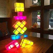 HYYK Tetris Lampe, 7 Farben Stapelbare Puzzles DIY