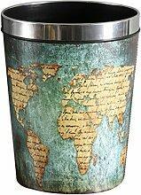 HYZH 12L Vintage Papierkörbe Wasserdicht