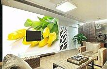 Hyzljo Fototapete Stereoskopische Gelbe Tulpen Tv