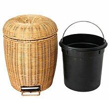 HZ®Mülleimer Mülleimer Bambus Und Rattan