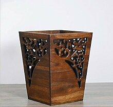 HZ®Mülleimer Mülleimer Holz Carving Haushalt