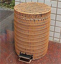 HZ®Mülleimer Mülleimer Kunststoff Rattan Von