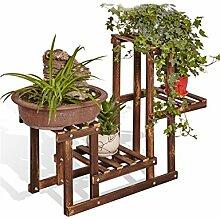 HZA 4-stöckiges Fußboden-Blumen-Regal, Betriebs-Standplatz, Blumen-Zahnstange für Innenraum, Balkon Hochwertige Materialien ( farbe : A )