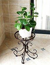 HZA Bügeleisen einreihig Boden Blumentopf Regal, Blumenregal für Balkon, Indoor Hochwertige Materialien ( farbe : C )