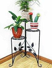 HZA Europäische - Stil Drei - Tier - Schmiedeeisen Boden Flower Pot Regal, Blume Rack für Balkon, Wohnzimmer Hochwertige Materialien ( farbe : A )