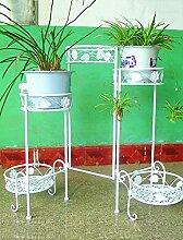 HZA Garten Eisen Blume Rack, Multi - Floor Balkon Wohnzimmer Innen Chlorophytum Fünf - Story Töpfe Regal Hochwertige Materialien ( farbe : B , größe : 90*34*71cm )