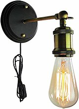 HZAN Vintage Industrie Wandleuchte, Edison Lampe