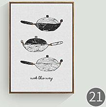 HZF-Restaurant hängen Bilder, nördlichen Dekoration, einfache Küche, Wandmalereien, Wandmalereien, 17,70 * 50,Wandverzierung