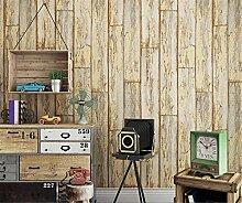 hzf/Retro retro, imitation Holz, PVC wasserdicht Tapeten, Persönlichkeit, Bar, Kleidung Shop, Restaurant, Hotel Tapete, Gelb Tapeten