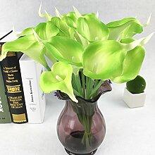 HZF10 Kopf flower wedding bouquet Heimtextilien Simulation dekorative Blumen, Grün