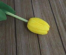 HZFHeimtextilien dekoratives einzelne Blume Simulation künstliche Pflanze, gelb