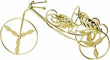 HZFROST Vintage Dreirad Weinregal Ornamente