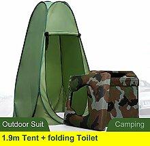 HZGrille Faltbare Camping-Toilette mit 1,9 M