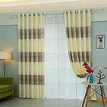 HZH-HZH-Mianma Vorhänge Hälfte Schlafzimmer