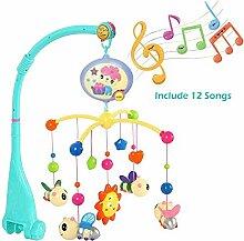 Hzlsy Baby Musik-Mobile mit Fernbedienung, Rassel