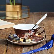 HZMM Kaffeetasse Kaffeetasse Und Saucer