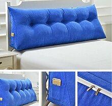 HZZ-KZ Abnehmbare dreieckige Bett mit großen Kissen Bedside Soft Bag Sofa mit großer Rückenlehne (Farbe : A1, größe : 135cm)