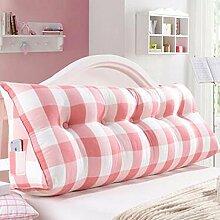 HZZ-KZ Bedside Kissen Double Soft Bed Back, Dreieck Big Kissen Sofa Taille Taille PillowLong Kissen (Farbe : A3, größe : 135*22*50cm)