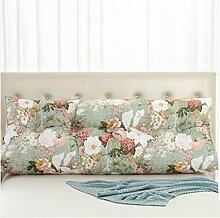 HZZ-KZ Bedside Kissen Double Soft Bed Back, Dreieck Big Kissen Sofa Taille Taille PillowLong Kissen (Farbe : B3, größe : 100*22*50cm)