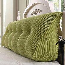 HZZ-KZ Bedside Kissen Double Soft Bed Back, Dreieck Big Kissen Sofa Taille Taille PillowLong Kissen (farbe : A2, größe : 135*22*50cm)