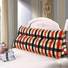 HZZ-KZ Bedside Kissen Double Soft Bed Back, Dreieck Big Kissen Sofa Taille Taille PillowLong Kissen (farbe : B1, größe : 60*22*50cm)