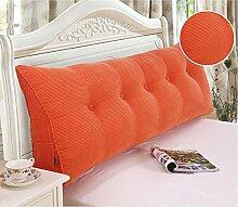 HZZ-KZ Bedside Kissen Kissen Kissen Bett zurück weichen Tasche dreieckig große Rücken Sofa Schlafzimmer zurück Kissen (Farbe : A6, größe : 50*50*20cm)