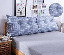 HZZ-KZ Bedside Kissen Kissen Kissen Bett zurück weichen Tasche dreieckig große Rücken Sofa Schlafzimmer zurück Kissen (Farbe : B1, größe : 150*50*20cm)