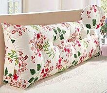 HZZ-KZ Bedside Kissen Kissen Kissen Bett zurück weichen Tasche dreieckig große Rücken Sofa Schlafzimmer zurück Kissen (Farbe : B5, größe : 135*20*50cm)