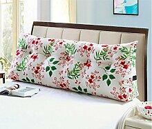 HZZ-KZ Double Bed Soft Bag Dreieckige Kissen Bett Große Kissen Rücken Kissen Pad Taille Sofa Kann abnehmbar waschbar sein (Farbe : B2, größe : 20*50*120cm)
