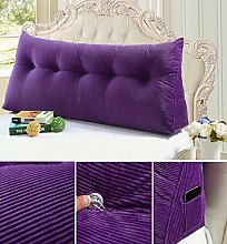 HZZ-KZ Double Bedside Kissen Soft Bag Dreieckige große Rückenlehne Bett Sofa Lange Kissen kann abnehmbare Wäsche Taille Kissen Taille (farbe : B1, größe : 100cm)