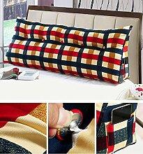 HZZ-KZ Double Bedside Kissen Soft Bag Dreieckige große Rückenlehne Bett Sofa Lange Kissen kann abnehmbare Wäsche Taille Kissen Taille (farbe : B5, größe : 150cm)